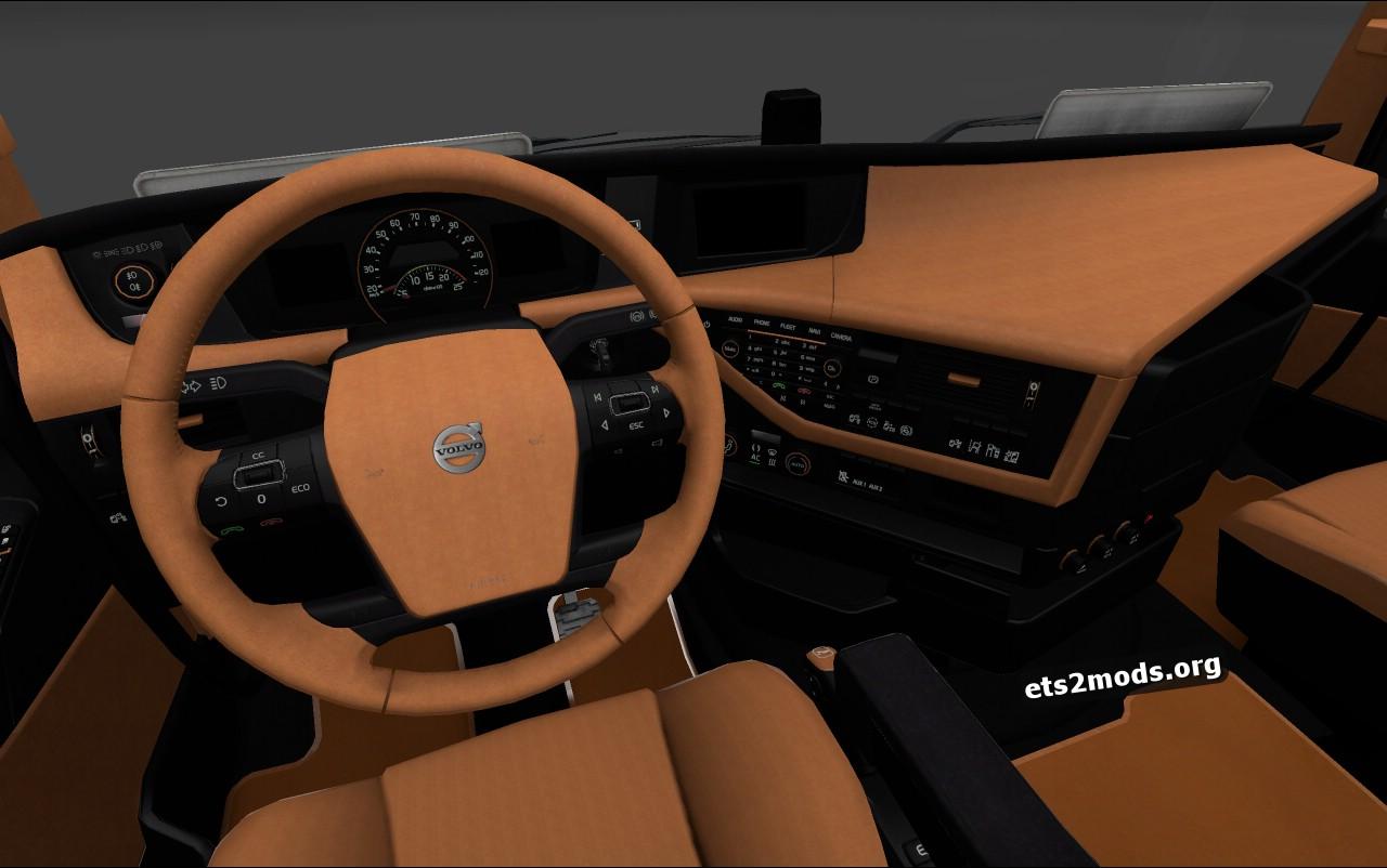 Brown-Black Interior for Volvo 2012
