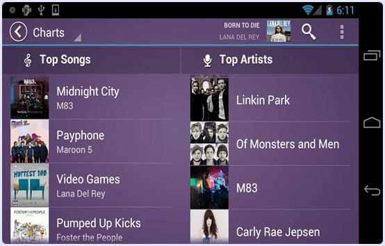 android Fusion Music Player