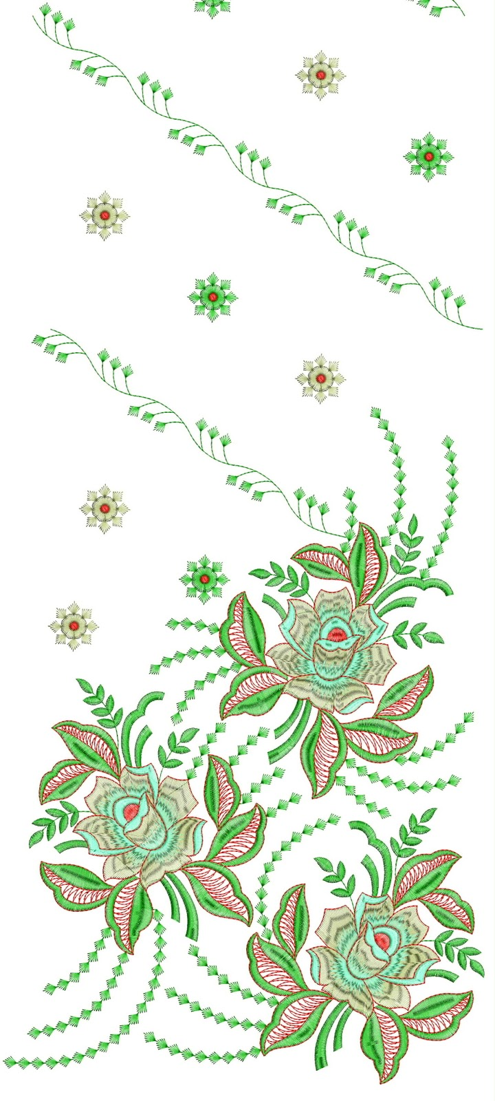 Embroidery designs dress daman design