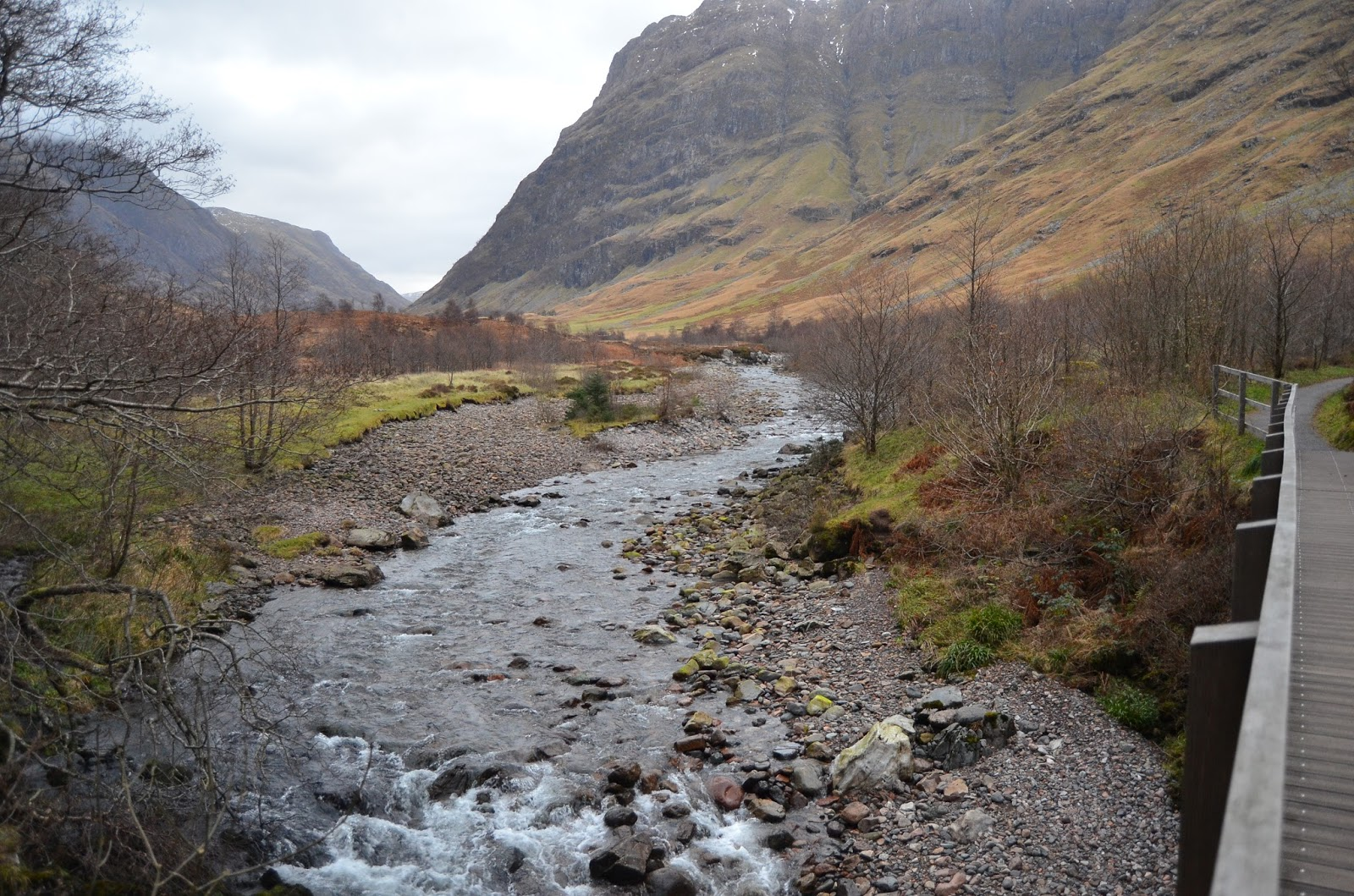 Creek Glencoe Scotland Hillside