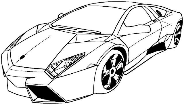 coche para colorear e imprimir