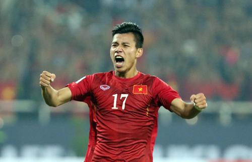Vũ Văn Thanh - cầu thủ mang áo số 17 của đội tuyển Việt Nam