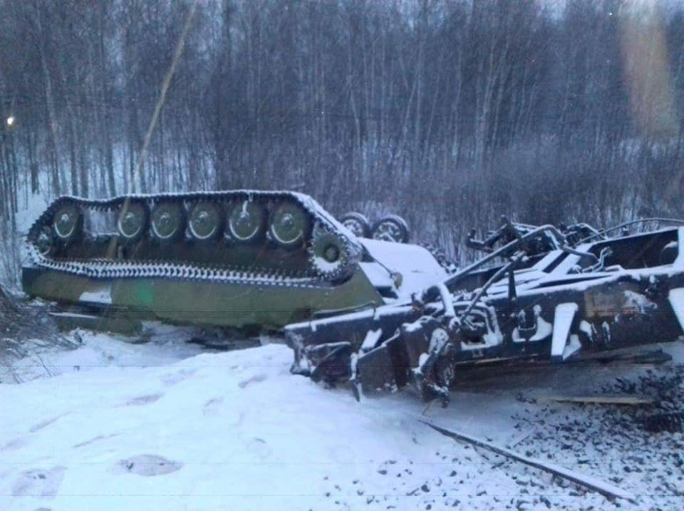 Asian Defence News: Russian military train derails west of Omsk