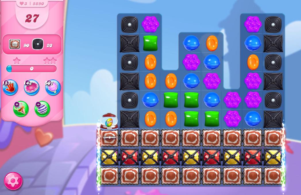 Candy Crush Saga level 5890