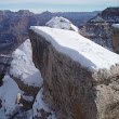 A snow covered Grand Canyon