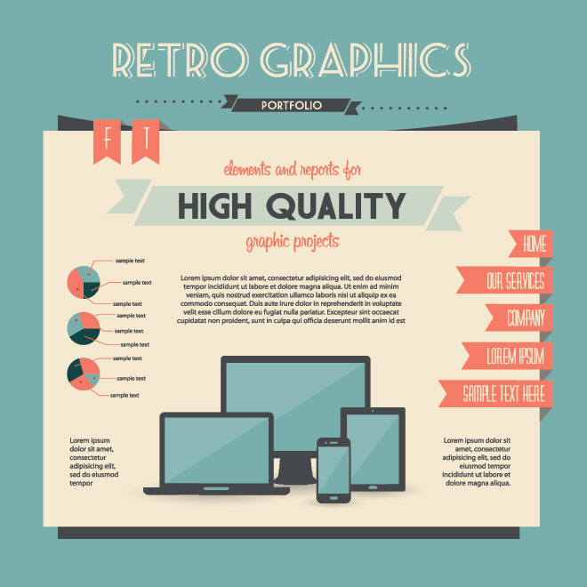 Infographic Design elements for presentation and graph Vector