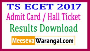 Telangana TS ECET 2017 Result Rankcard Download
