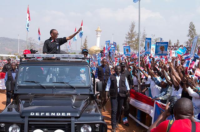 Umukandida wa FPR Paul Kagame Yakiranywe ubwuzu i Nyamirambo