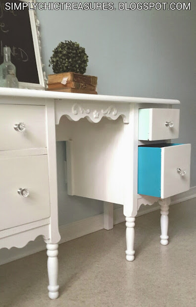 Simply Chic Treasures Small Vanity Desk