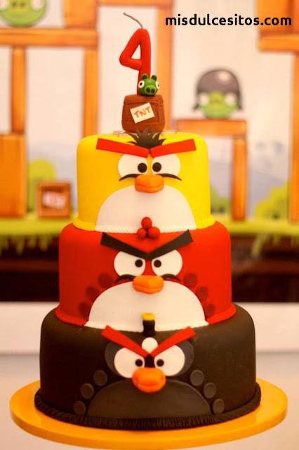 Tortas Angry Birds. Venta de tortas temáticas infantiles en Lima.
