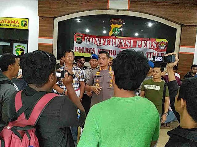 Polres Metro Jakarta Timur Ciduk 31 Orang dari 5 Geng Motor