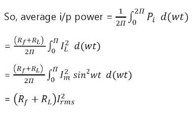 Half-Wave Rectifier - circuit diagram - Ripple factor - Form