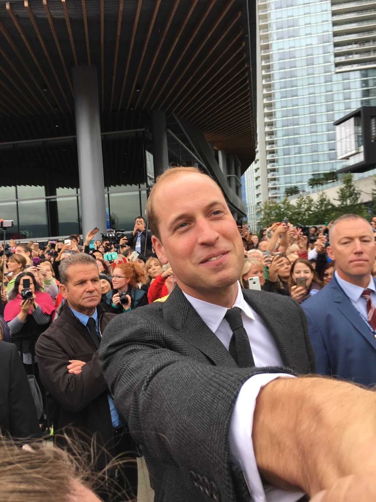 Prince William arrival in Vancouver