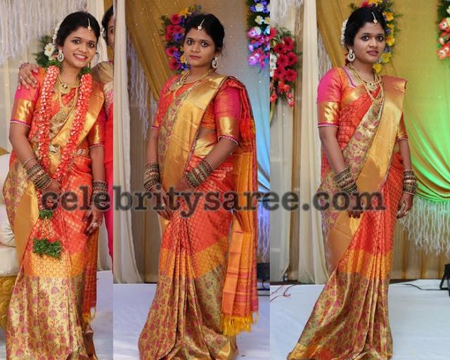 Divya in Benaras Saree