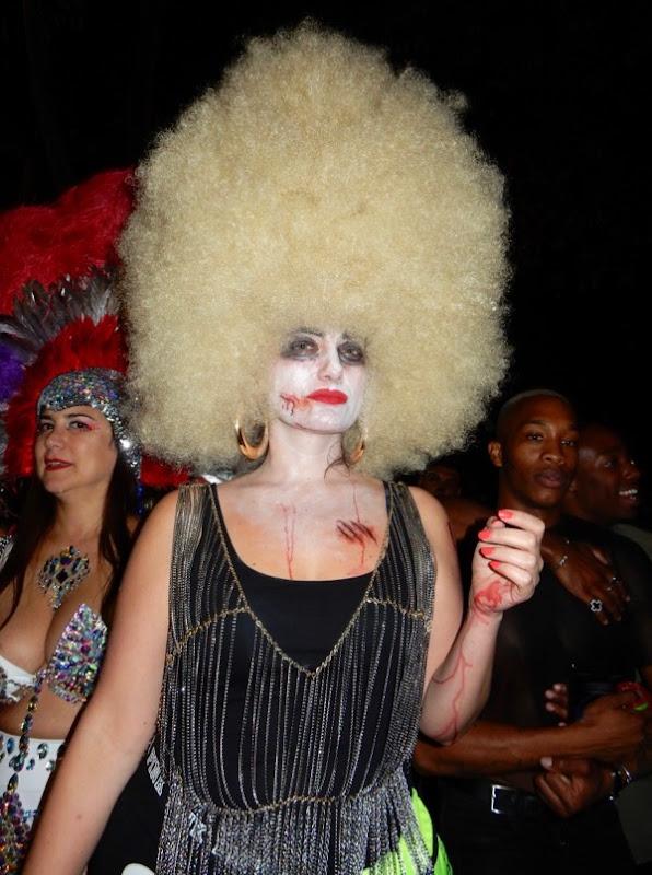 Weho Halloween hair-raising costume