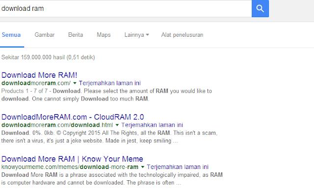 Beginilah Cara Download Ram Melalui Web