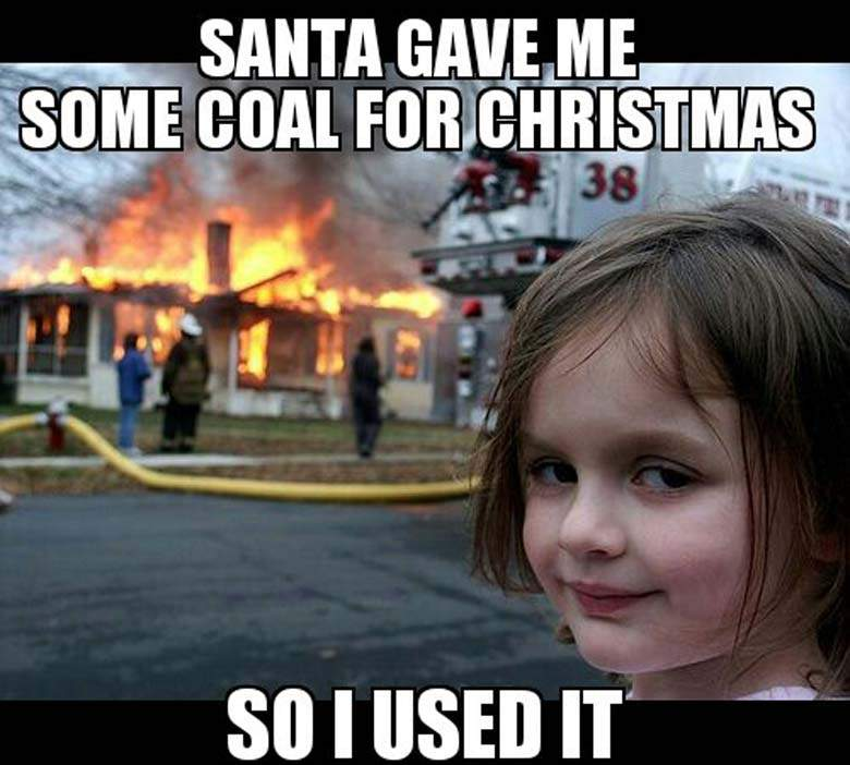 funny christmas meme cute girl burn home