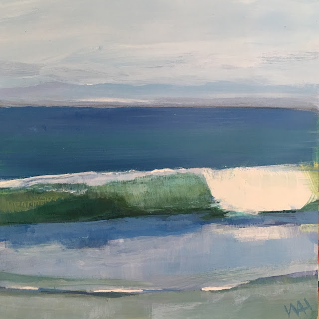 Whitney Heavey's painting of waves