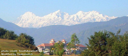 Himalayas @ Golf Club, Katmandu photo credit by SouthAsiaGolf