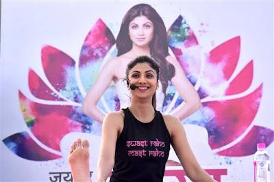 shilpa shetty yoga event at jaipur