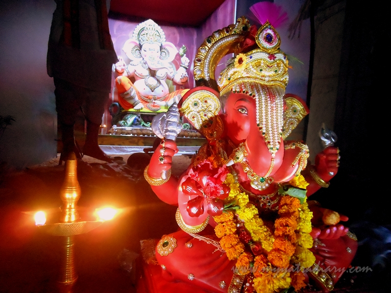 Lord Ganesha in a thematic pandal, Ganesh Chaturthi Pandal Hopping in Mumbai