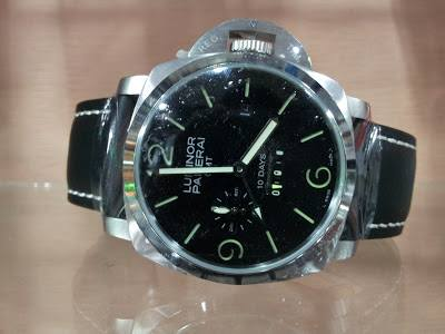 1a3d9ffeff9 Item   Panerai Luminor GMT 8 Days Power Reserve Black Leather Price   RM  530.00