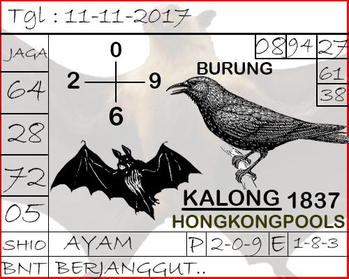 Syair Hongkong Naga Mas Sabtu 11-11-2017