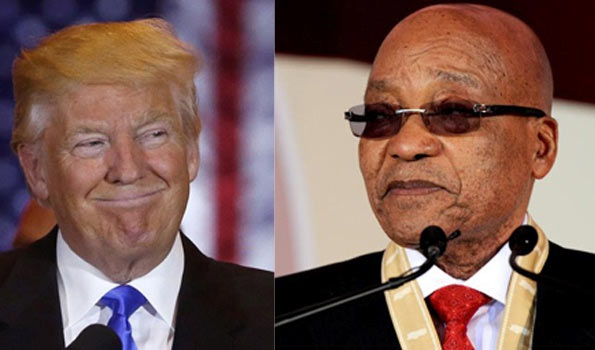 South Africa confirms Trump called President Zuma