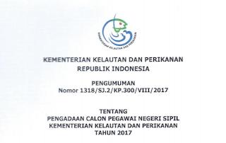 Penerimaan CPNS Terbaru Kementerian Kelautan dan Perikanan
