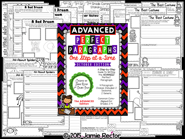 Perfect Paragraphs for Advanced Writers are an easy way to differentiate paragraph writing for your students. Easy step by step approach to writing paragraphs.