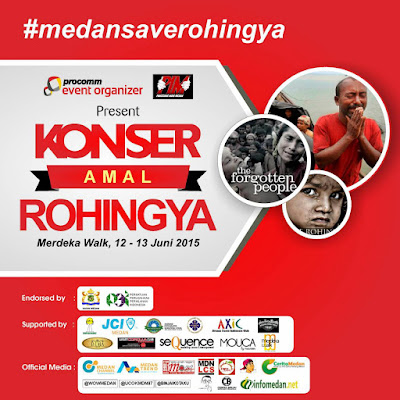 Konser Untuk Rohingya di Merdeka Walk Medan