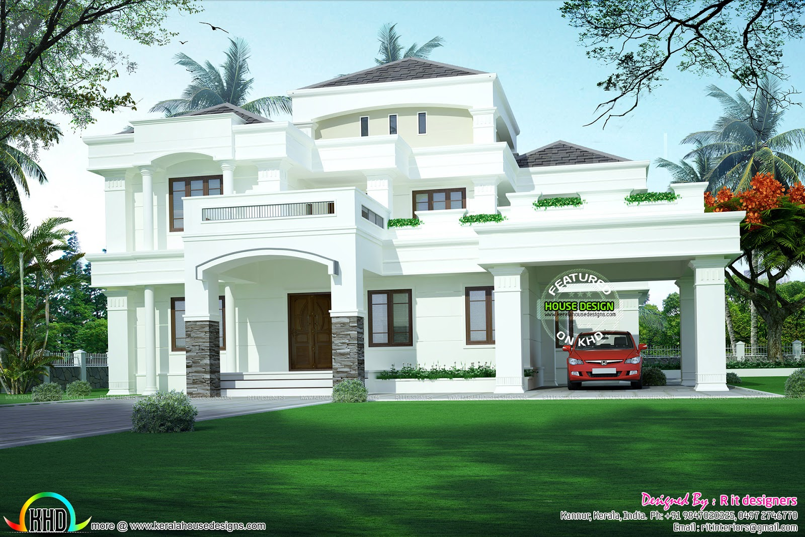 28+ [ kerala home design colonial ] | 5 bedroom colonial style