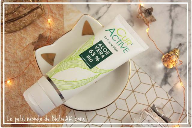 crème pour les mains réparatrice Cur'Active aloe vera bio d' Akeo