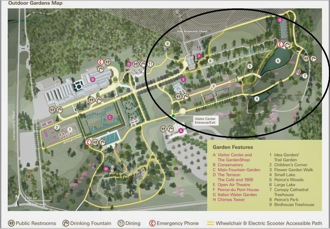Longwood Gardens Map Travel: Longwood Gardens, Part 2 Longwood Gardens Map