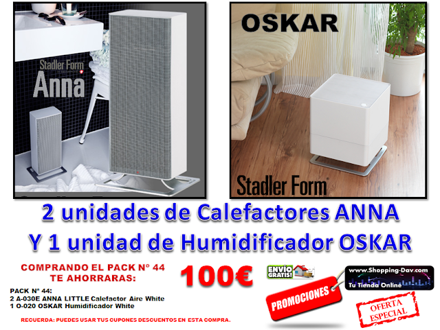 2 Calefactores y 1 Humidificador by Stadlerform