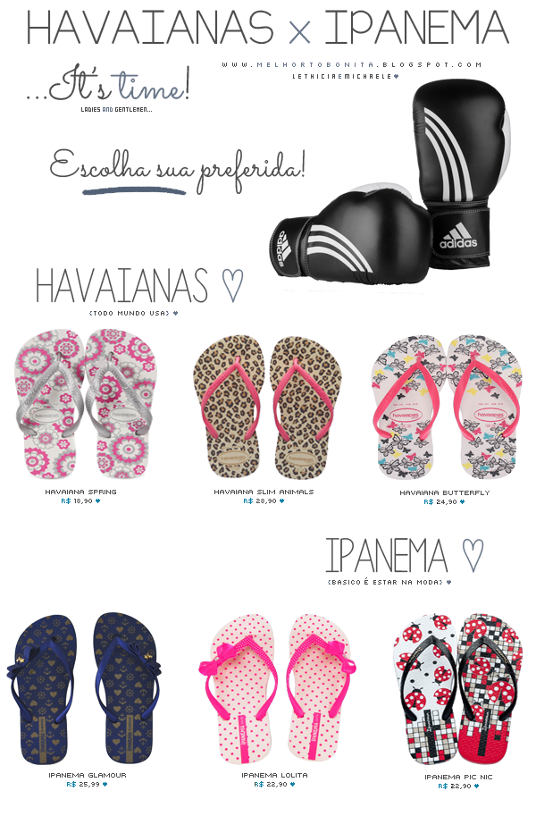 3994e5a58af1 Havaianas x Ipanema!