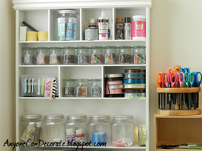 Craft Room Organisation: Anyone Can Decorate: Craft Room Organizing