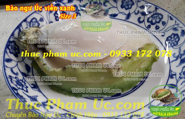 bào ngư úc viền xanh nhập khẩu từ úc size 3 con