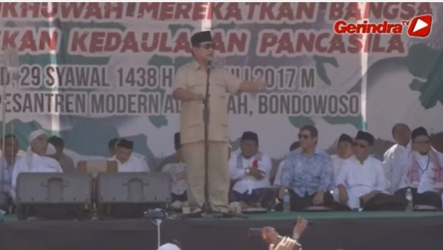 SERUAN Prabowo Subianto: RAPATKAN BARISAN! DEMOKRASI KITA TERANCAM!!