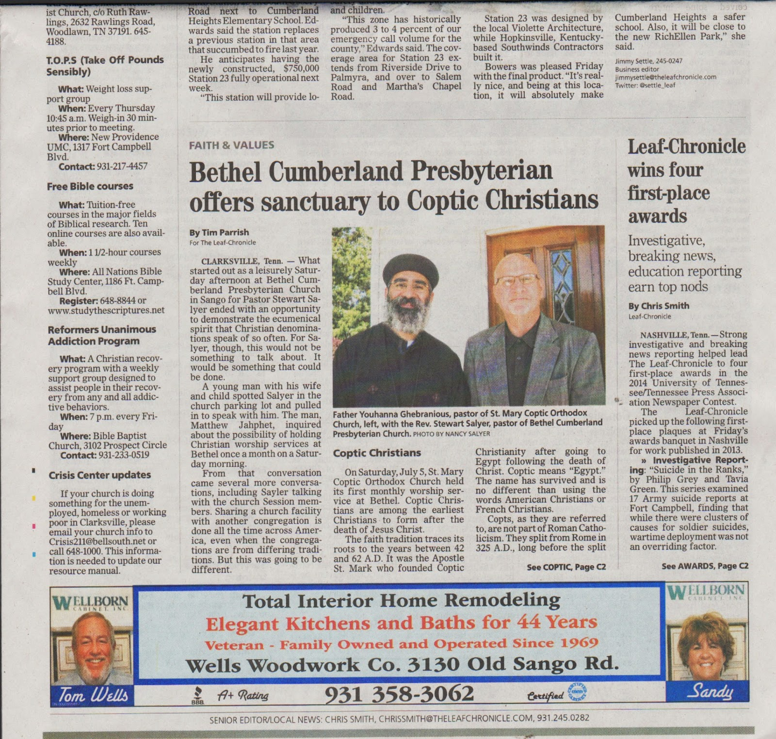 Smiling Lungs: Copts in Clarksville