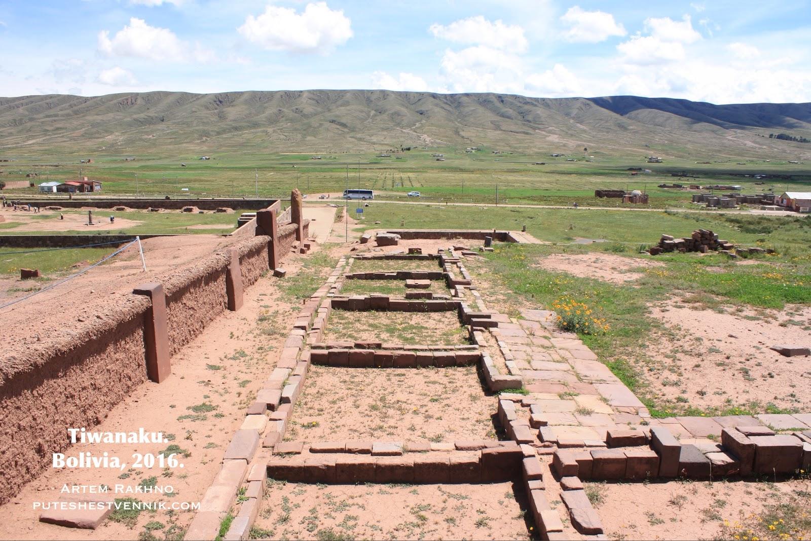 Развалины Тиуанако в Боливии