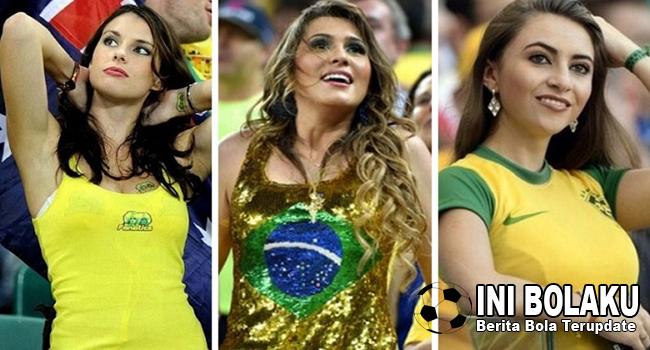 Suporter Cantik Brasil Ini Adalah Bukti Bahwa Penggemar Sepakbola Di Brasil Tak Hanya Kaum Pria