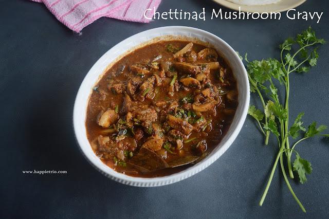 Chettinadu Mushroom Gravy | Chettinad Kalan Kuzhambu | Mushroom Curry