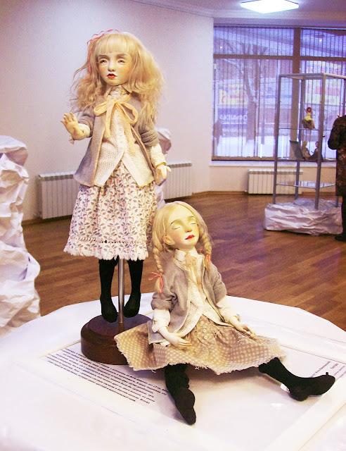"""Выставка авторской куклы в Самаре """"Куклы. Эмоции. Чувства."""", Ксения Мингалёва (п. Усть - Кинельский) """"Сёстры"""""""