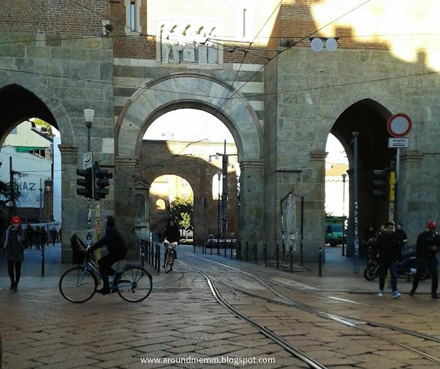 Porta Ticinese antica su Corso di Porta Ticinese