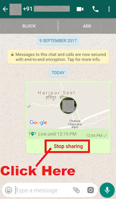 how to track someone location through whatsapp