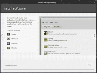 LinuxMint19 Tara installation slide show install softwares with software manager