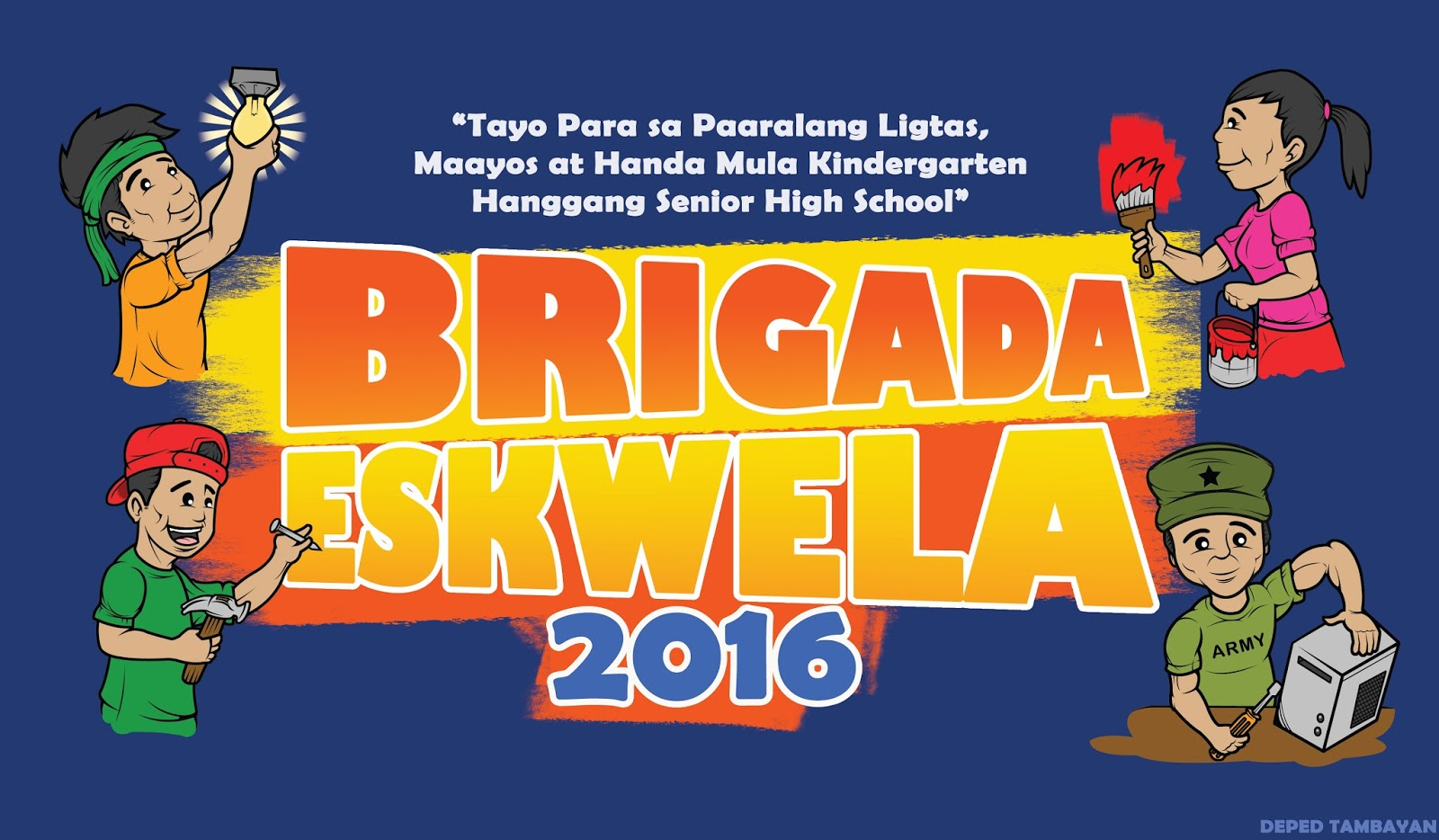 brigada eskwela The brigada eskwela is the national schools maintenance week, that aims to brings together all education stakeholders to participate and contribute their time, .
