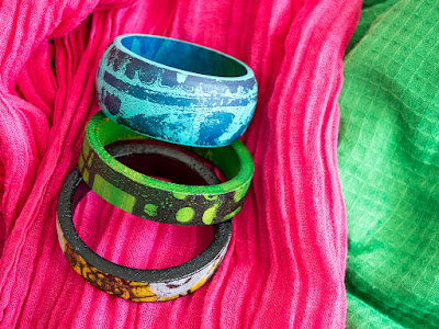 Creating Bangles with StencilGirl® Stencils by Marsha Valk