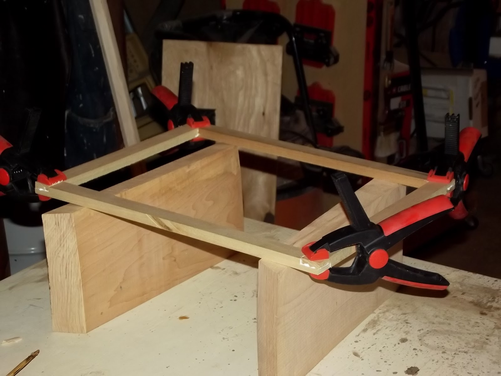 The tool store lap joints a puzzle and relief
